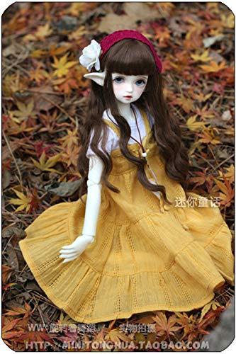 Tita-Doremi BJD Wig Ball-Jointed Doll 1/3 8-9 Inch 22-24cm Dollfie Pullip SD DOD DD Dark Brown Toy Head Wig Hair (Wig Only, Not A Doll )