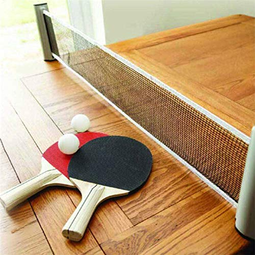 Buy Bargain WLKQ Portable Table Tennis Set, Ping Pong Accessories Includes Retractable Net & Post, 2...