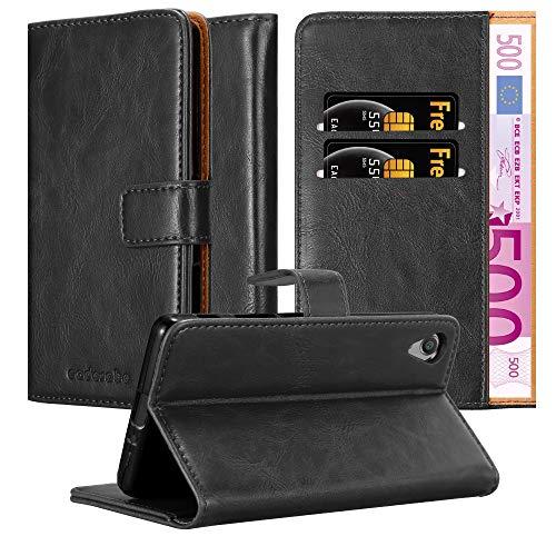 Cadorabo Coque pour Sony Xperia X en Noir DE Jais - Housse Protection avec Fermoire Magnétique, Stand Horizontal et Fente Carte - Portefeuille Etui Poche Folio Case Cover