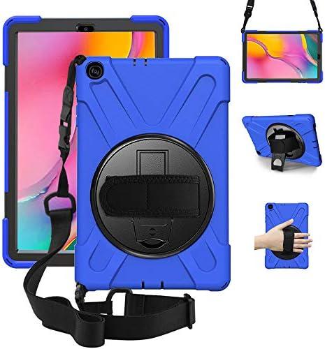 "ZenRich Samsung Galaxy Tab A 10.1 Case 2019 SM-T510/T515, zenrich Shockproof Rugged Case with 360 Rotating Kickstand Hand Strap Shoulder Belt for Samsung Galaxy Tab A 10.1"" SM-T510/T515-Black"