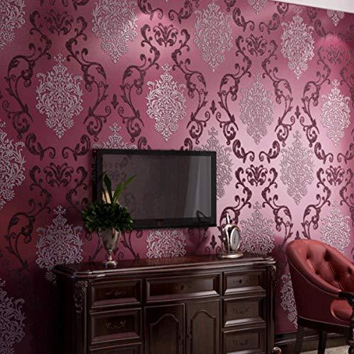 Tapete 878830 lila Druck Vliestapete Streifen Moderne Home Style Vlies Wand Tapete Wandtapete Dekoration 10M Unitapete für Wohnzimmer Schlafzimmer Büro