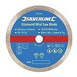 Silverline 361323 Lama Diamantata per Sega Mini, Argento