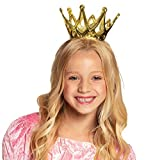Boland 61591 - Krone Amy, 1 Stück, Größe ca. 9 cm, gold mit Gummiband, aus glänzendem...