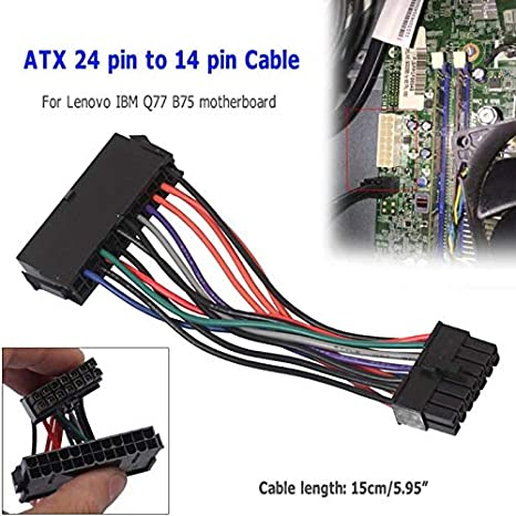 ShineBear ATX 24pin to 14pin Adapter Power Cable 18AWG Cord for Lenovo for IBM Q77 B75 A75 Motherboard Main Board Cable Length: 15cm