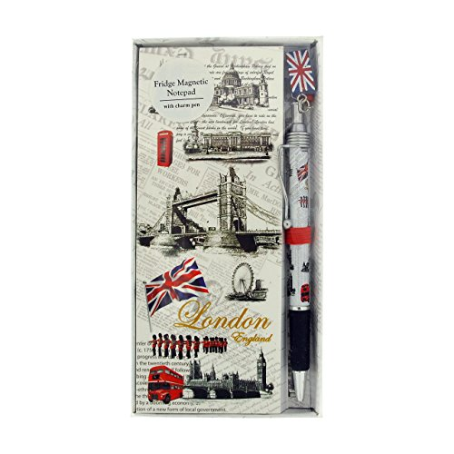 London Places Design Koelkast Magnetisch Kladblok & Pen Souvenir/Memento SC1390