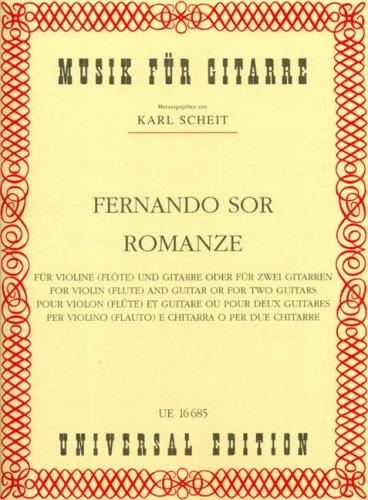 Romanze: für 2 Gitarren oder Violine (Flöte) und Gitarre. Spielpartitur.