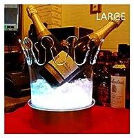 アイスバケツ クラウンシャンパンアイスバケツLEDビールホルダーバークーラー容器アクリル透明アイス装飾品 パーティー、バー、ホームバーのために (Color : Large)