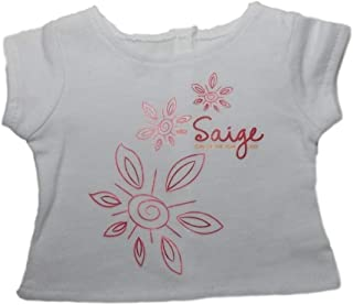 American Girl LTD ED Saige's Floral Tee for Dolls Silver NEW Limited Edition