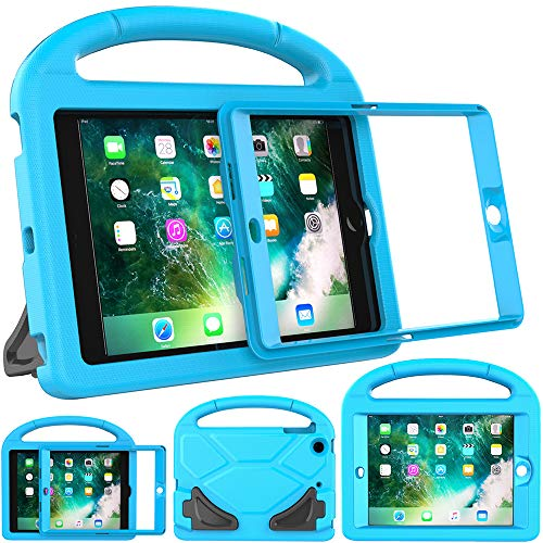 Surom Kids Case for iPad Mini 1 2 3 - Light Weight Shock Proof Handle Stand Cover Case with Built-in Screen Protector for iPad Mini 1 / iPad Mini 2 / iPad Mini 3 - Blue