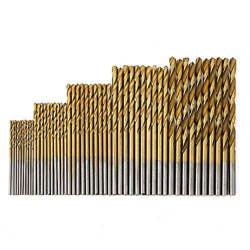 MINHER 50 PCS micro taladro conjunto 1/1.5/2/2.5/3 mm de tit
