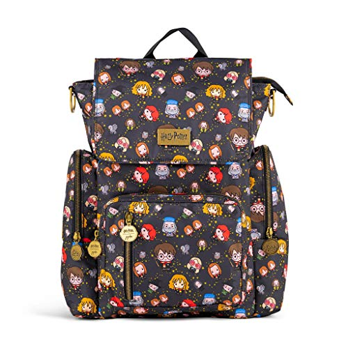 JuJuBe x Harry Potter Be Sporty Backpack | Multi-Functional Diaper Messenger Bag | Lightweight, Durable Travel-Friendly | Cheering Charms