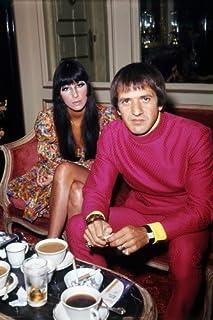 Nostalgia Store Póster de Cher and Sonny Bono con Imagen RARA de 1970 (60 x 91 cm)