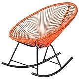 Acapulco Rocker Indoor/Outdoor Chair (Orange)