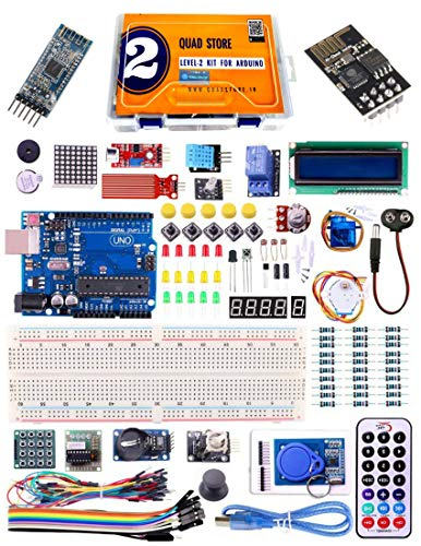 Quad Store(TM) LEVEL-2 Kit for Arduino Uno R3 advance pack with RFID