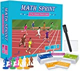 Math Sprint, The Mental Math Game – Fun Educational Board Game for Kids 7+ Boosts Addition, Subtraction, Multiplication & Division Skills – School & Family Activities for 2+ Players by Byron's Games