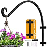 AJART Hanging Plant Bracket Plant Hangers Outdoor (16inches/Black) Thicker More Durable Rust-Resistant, Heavy Duty Plant Hooks