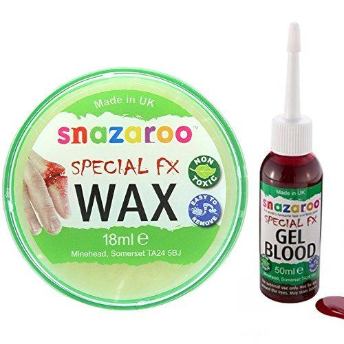 à base d'eau Visage & Corps Maquillage Kit avec Snazaroo 18ml Effets spéciaux Cire et un