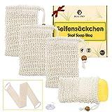 Seifensäckchen 4x Seifenreste Seifenbeutel Seifensäckchen Sisal Seifensack Seifentasche...