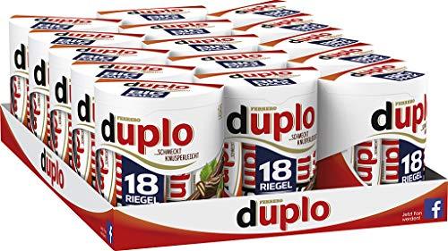 Ferrero duplo Big Pack– Schmeckt knusperleicht – 15 Packungen mit je 18 Einzelriegeln (15 x 327 g)