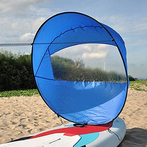 42'Kit de Vela de Viento a Favor del Viento Kayak Plegable Wind Sail Kayak Paddle Board Accesorios con Bolsa de Almacenamiento, para Kayak Boat Sailboat Canoe