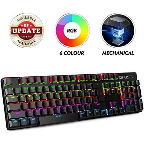 DBPOWER tastiera per giochi QWERTY, Tre colore LED...