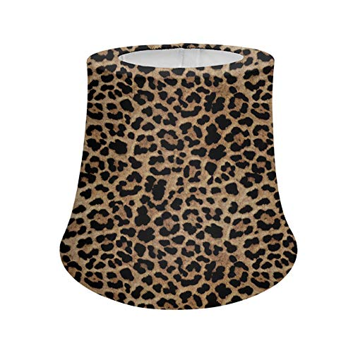 UNICEU Leopard Print Lamp Shades Animal Wild Cleetah Brown Table Lamp Shades Fade Resistant Reading Lamp Shades Universal Fit Most Lamps Trendy Room Decor