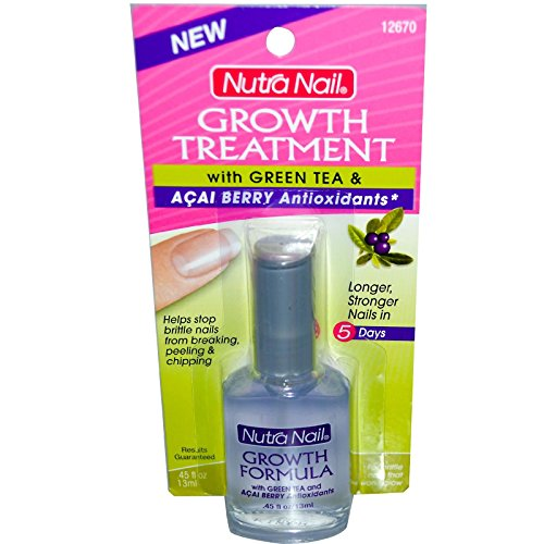 Nutra Nail Growth Formula Plus Green Tea and Acai Berry - 0.45 oz