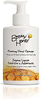 BeeMy Honey Foaming Hand Cleanser – Hand Soap with Italian Honey, Silk and Wheat Proteins, and Royal Jelly Restores Soft Skin – 98.5% Natural Origin, Made in Italy – Hypoallergenic, Non-GMO, 10.2 oz.