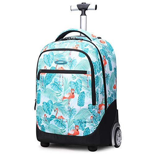 Rolling Backpack,19 Inch Trolley Bags Wheeled School Backpack for Children Teens,G-OneSize