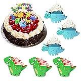 DECARETA 48 Stücke Dinosaurier Cupcake Wrapper und 11 Stücke Torte