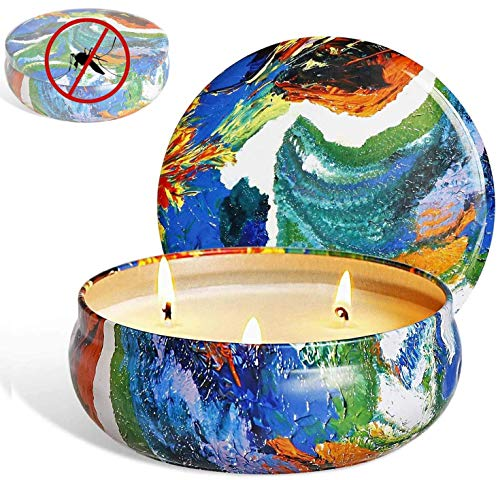 Tobeape Citronella Candles, Natural Scented Soy Wax Candle, Portable Travel Tin Candle for Stress Relief-Indoor and Outdoor