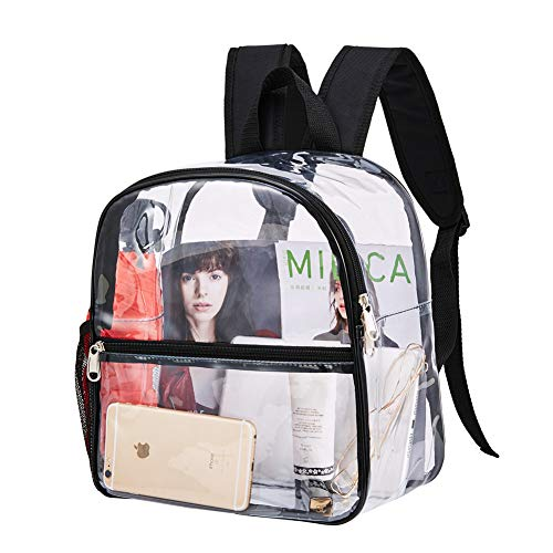 LEWEREI Clear Backpack Mini Stadium Approved, Cold-Resistant See Through Backpack, Water proof...
