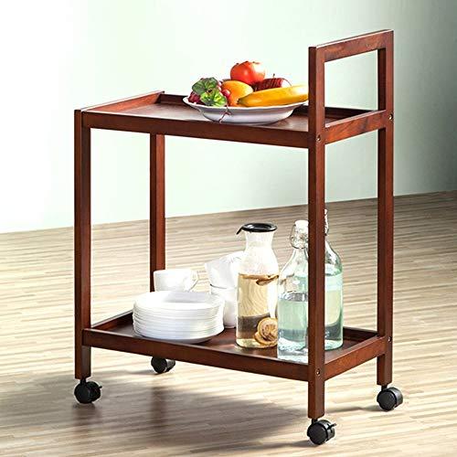 XUSHEN-HU Carro de comedor de madera maciza con múltiples capas, para comedor, cocina, multifunción, 59 x 32 x 79 cm, almacenamiento de cocina