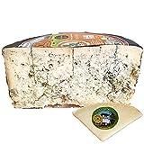 Queso Cabrales Denominación de Origen Protegida - Peso 1200 gr - Incluye Cuña Degustación Queso de Oveja Curado de REGALO - Queso Galardonado en varias ediciones con el premio World Cheese Award