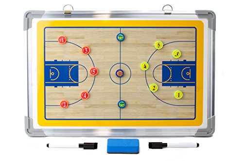 2RGarry Magnetic Basketball Coaches Clipboard, Dry Erase Marker Board