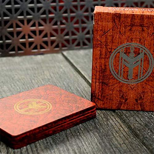 SOLOMAGIA Fiber Boards Cardistry Trainers (Jasper Red) by Magic Encarta