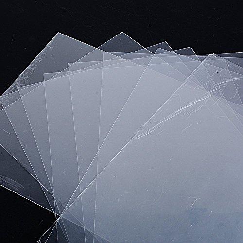 10pcs Plastico Magico Shrink Plastic Perícula A4 Laminas Termocontraíble para Manualidades fabricar Bisutería Llaveros Insignias 29 * 20cm Espesor 0,3mm