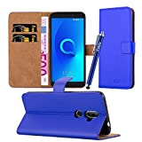 iCatchy Alcatel 3V Case - Wallet Book [Stand View] Card