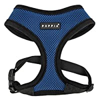 Soft air-mesh Comfortable neck Adjustable chest belt Puppia rubber label,Coordinated with two-tone lead SIZE (Small)= Neck Girth (25cm) x Breast Girth(32-42cm) x Body Belt( 9cm)