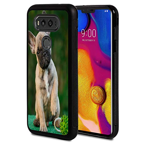 Compatible with LG G6 Case,French Bull Dog Anti-Scratch Shockproof Black Silicone Rubber TPU Protective Case Cover for LG G6 Case/LG G6 Plus 2017 Release