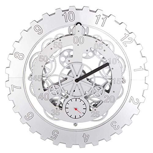 MLL DIY Große Zahnräder Mechanische Wanduhr Drehung Multifunktionale Mechanische Zahnraduhr Creative Home Dekorative Wanduhr 45.8 cm