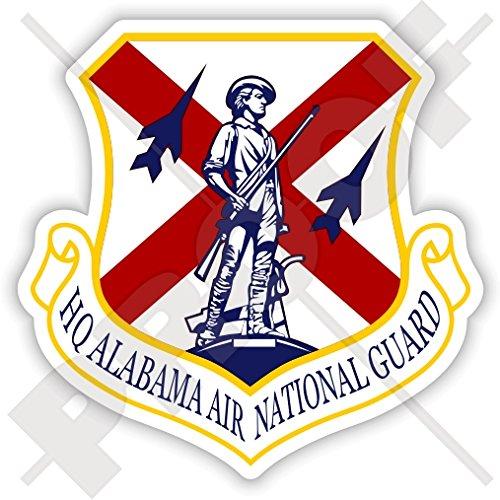 ALABAMA AIR NATIONAL Guard Shield, emblemat US AirForce USAF AL-ANG American, Alabaman, Alabamian USA 85 mm (3,3 cala) winylowa naklejka na zderzak