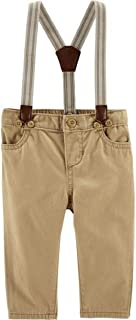 OshKosh B'Gosh Suspender Twill Pants 12M Khaki