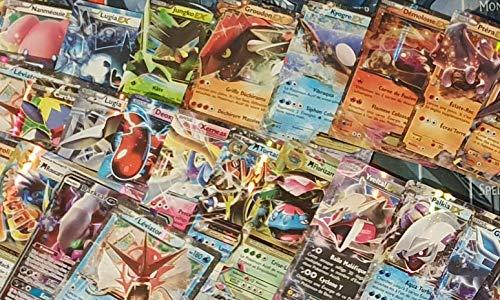 Générique Pokémon : Lot de 3 Cartes GX/EX Ultra Rare françaises sans Doubles !