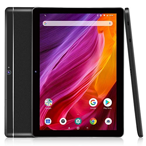 Tablet 10 Zoll, Android 8.1, Dragon Touch K10 Tablet Pad 2GB+16GB, Quad Core IPS HD (1280 x 800) Touchscreen, 2MP Dual Kamera /Micro HDMI /GPS/ FM /5G WiFi /Bluetooth 4.0, schwarz