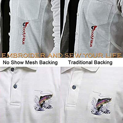"brothread Cut Away Machine Embroidery Stabilizer Backing 8/""x8/"" 20cmx20cm 100"