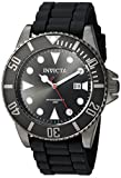 Invicta Men's Pro Diver 44mm Black Stainless Steel and Silicone Quartz Watch, Black (Model: 90305)