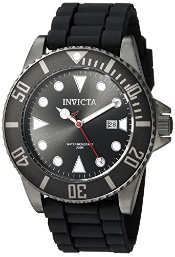 Invicta Men's 'Pro Diver' Quartz Stainless Steel and Silicone Diving Watch, Color:Black (Model: 90305)