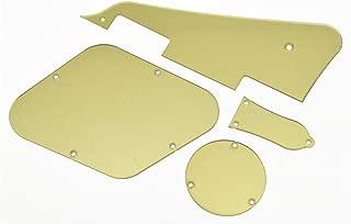 KAISH Gold Mirror LP Pickguard Rear Cavity Covers Truss Rod Cover Set for Epiphone Les Paul