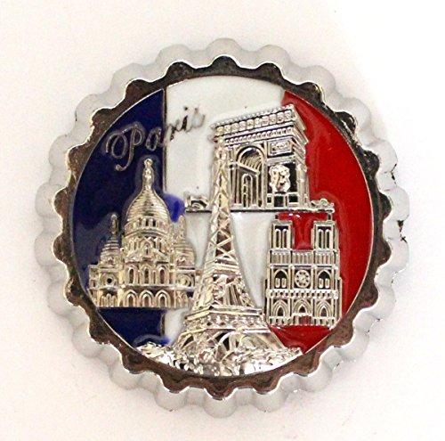 AKER Magnet Aimant de frigo décapsuleur Cuisine Souvenir de France Paris Cadeaux Monuments 5,5 cm MGC4
